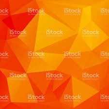 abstract background of triangles the bright orange color stock