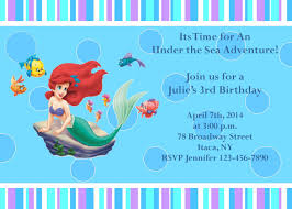 Unique Party Little Mermaid Party Invitations Which Various Color Combination