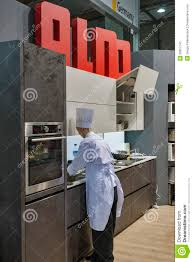alno german kitchen furniture booth editorial stock photo image