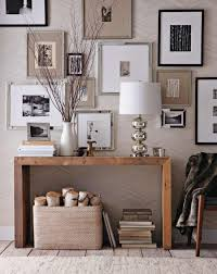 west elm entry table gallery wall concept wood console rustic and refined entryway home