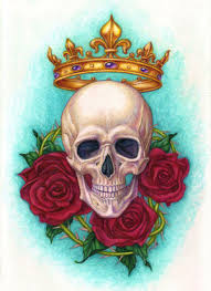 crown skull and roses weils