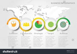 Target World Map by World Map Timeline Vector Infographics Icon Stock Vector 716018572