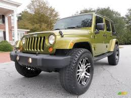 jeep sahara green 2007 rescue green metallic jeep wrangler unlimited sahara 4x4