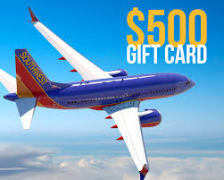 500 gift card 500 00 southwest airlines gift card sweepstakes
