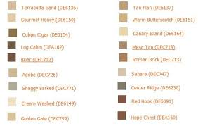 approved paint colors