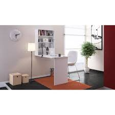 small bureau rabattable contemporain blanc l 150 cm achat
