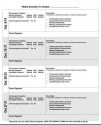 behaviour report template daily weekly behavior reports
