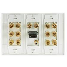 best 7 1 home theater shop new wall plate with banana plugs 7 pair subwoofer 1 port