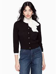 black sweater with white collar sweaters cardigans with a bold sensibility kate spade york