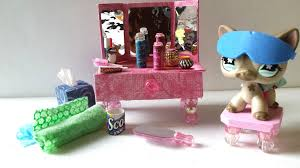 how to make an lps vanity and bathroom accessories doll diy youtube