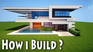 minecraft birth of a modern house how i come up with house