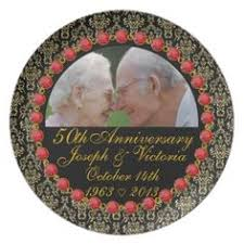 50th anniversary plate personalized personalized names years 50th anniversary plate anniversaries