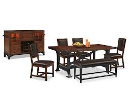 Value City Dining Room Furniture The Newcastle Standard Height Collection Mahogany Value City