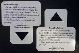 Do Not Disturb Desk Sign Guest