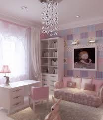 bedroom elegant girls room design with attractive wallpaper also