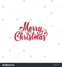 merry christmas vector text calligraphic lettering imagem vetorial