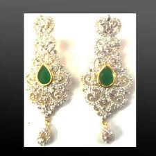 diamond earrings with price american diamond earrings american diamond jewellery johari