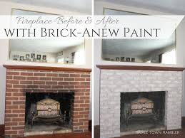 fireplace makeover part 1 painting a brick fireplace with brick