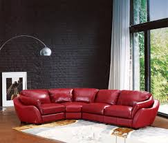 Ital Leather Sofa Cherry Red Leather Sectional Sofa Centerfieldbar Com