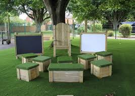 outdoor sitting playground seating and picnic benches for schools pentagon play