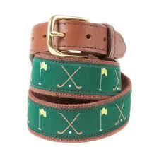 preppy ribbon belts golf clubs and flag ribbon belt knot clothing belt co