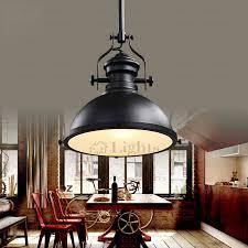 Industrial Pendant Light Wrought Iron Fixture Black Industrial Pendant Light