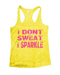 i don t sweat i sparkle tank buy i dont sweat i sparkle womens running burnout working out tank