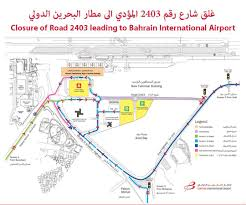 Las Vegas Airport Terminal Map by Major Airport Road To Be Closed In Bahrain Dt News Bahrain
