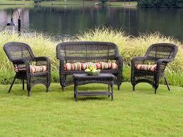 Black Resin Patio Furniture Resin Wicker Patio Furniture Niceville 4 Piece Deep Seating Group