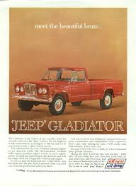vintage jeep ad meet the beautiful brute jeep gladiator ad 1963