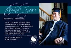graduation thank you cards with photo graduation thank you card wording insert attached ideas
