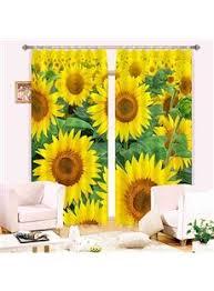 Sunflower Yellow Curtains Sunflower Shower Curtains Ebay Sunflower Curtain
