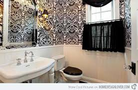 powder rooms with wallpaper black and white wallpaper in 15 bathrooms and powder rooms home