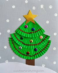 cupcake liner christmas tree art green cups tree crafts and cup
