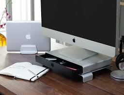 drawer monitor stand by just mobile gadget flow