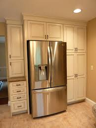 above fridge cabinetpth kraftmaid offwhite cabinets with glaze