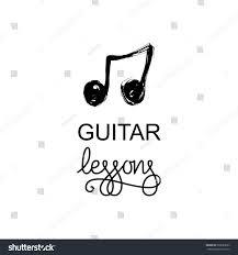guitar lessons logo music logotype music stock vector 520082623