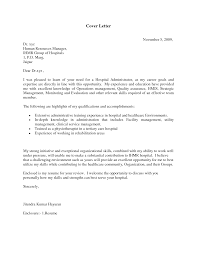 cover letter for healthcare administration with no experience