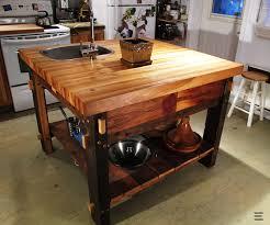 table en bois de cuisine atelier epure ca îlot de cuisine
