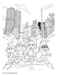 13 smurfs coloring pages images