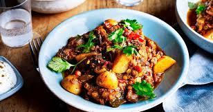 Indian Style - indian style potato aubergine dhansak curry potatoes