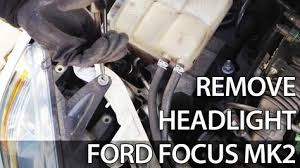 2003 ford focus headlight bulb how to remove headlight for light bulb change in ford focus mk2