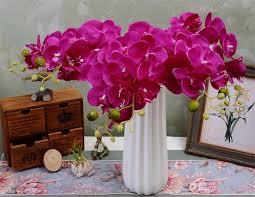 artificial orchids 2018 silk single stem orchid 78cm 30 71 length artificial flowers