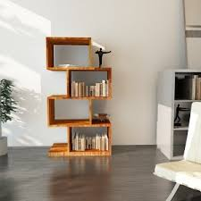 bookshelf zig zag book shelves online shopping india alinahome