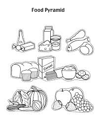 Healthy Food Coloring Pages For Kids Many Interesting Cliparts Food Color Pages