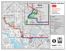 Wmata Map Metro by Planitmetro Proposed Restructuring For The East Capitol Street