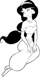 printable coloring pages disney aladdin princess jasmine cartoon