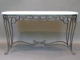 Wrought Iron Sofa Tables by Wrought Iron And Stone Table France 1940s At 1stdibs