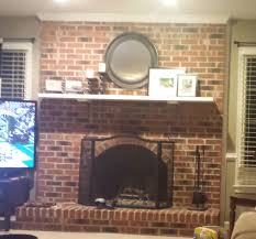 80 u0027s fireplace redone white wash