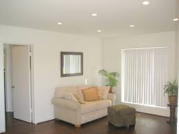 spacious living room with chic recessed light recessed lighting